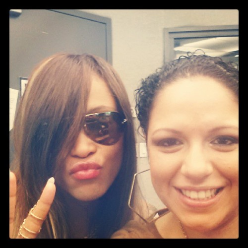 Eve is here!!! #selfie #liplock @therealeve @power99philly