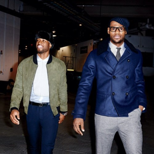 D-Wade  and LeBron before their game. Who was the better dressed?    #style#lebron#dwade. #mensfashion #fashion #mensfashion #gucci #ysl #mensfashion #highend