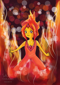 Flame Princess! Because she's adorable and I've really wanted to draw her for a while :3