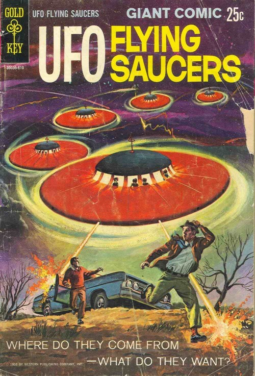 comicbookcovers:  UFO Flying Saucers #1, 1968