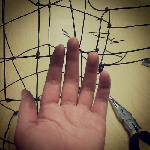 This wire sculpture is slowly killing my hands.