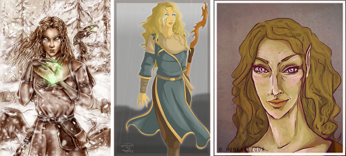 Three beautiful drawings of my Altmer mage Laraniel created by amazing and talented Agregor, DebbiGee and hunkaalzoor. Take a look at the original full-sized images below! ♥ Laraniel by *Agregor .:Laraneil:. by =DebbiGee portrait commission laraniel by ~hunkaalzoor