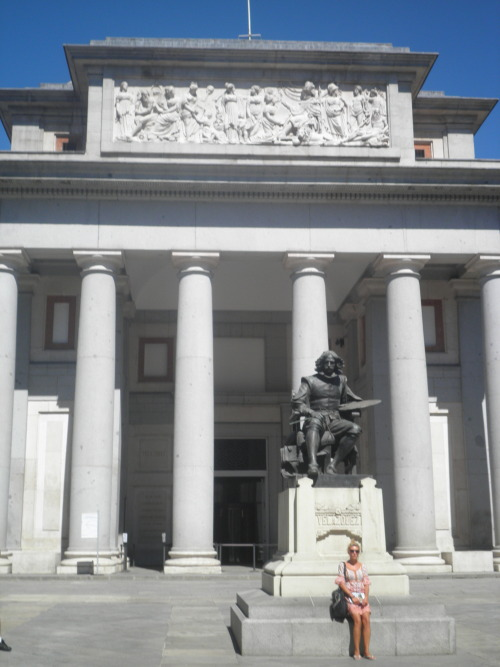 statue of Velazquez in the Paseo del Prado in Madrid.