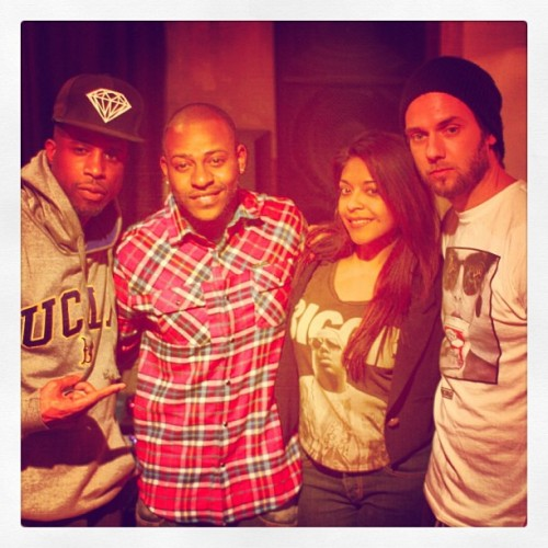In the studio working #getconnected #brandx @Ericbellinger @YesiOrtiz @thedirtyswift @thebrucewaynne