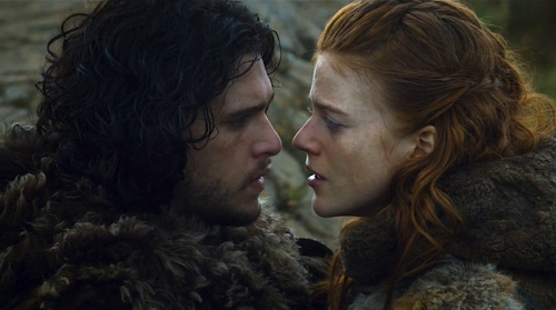 "multiprises:  ""You're mine. And I'm yours."" Kit Harrington et Rose Leslie  The Bear and the Maiden Fair, Game of Thrones, 3.07"