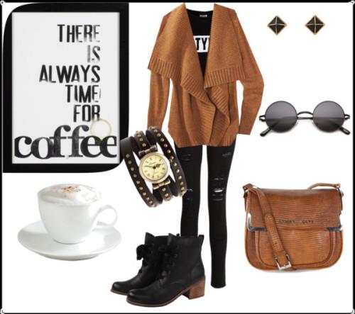 afternoon coffee, thebeautifulfreedom tarafından latte cups and saucers ile yaratıldı