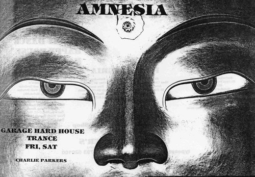 Amnesia party flyer. Found here.