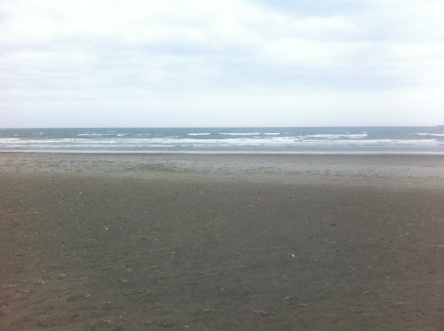 The Atlantic ocean! As seen from somewhere in Rhode Island. It was cold and very windy.