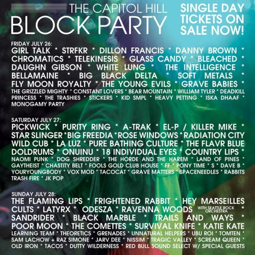 Just announced….TYE will be playing Capitol Hill Block Party on Fri. July 26. More info: http://capitolhillblockparty.com/