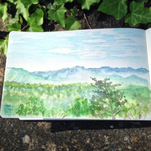 Good morning Shenandoah Valley! #art #sketchbook #watercolor #moleskine #sketchoftheday