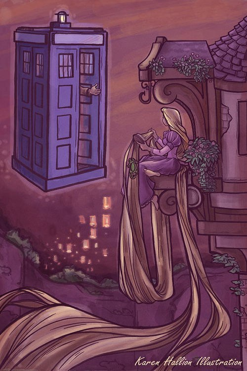 goddamndamages:  Seems the Doctor has found a Winchester…   Artist: http://karenhallion.tumblr.com/