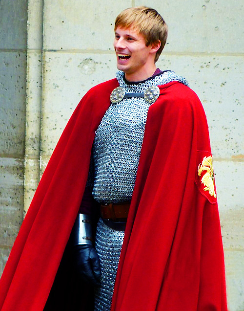 ultimatemerlin:  A very happy Bradley James :D