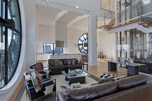 buttersutter:   Clock tower converted into a penthouse
