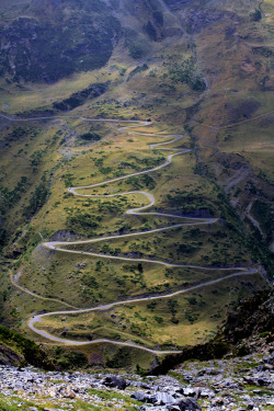 travelingcolors:  Zig Zag Road, Central Pyrenees | France (by M'Barek)