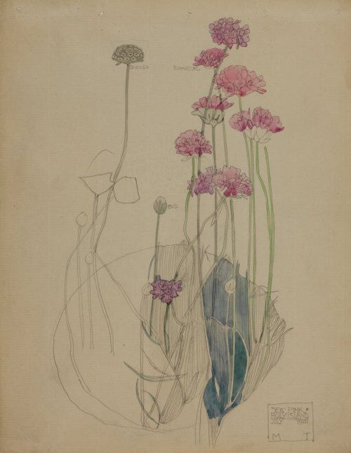 hoodoothatvoodoo:  Charles Rennie Mackintosh 'Sea Pink, Holly Island' 1901