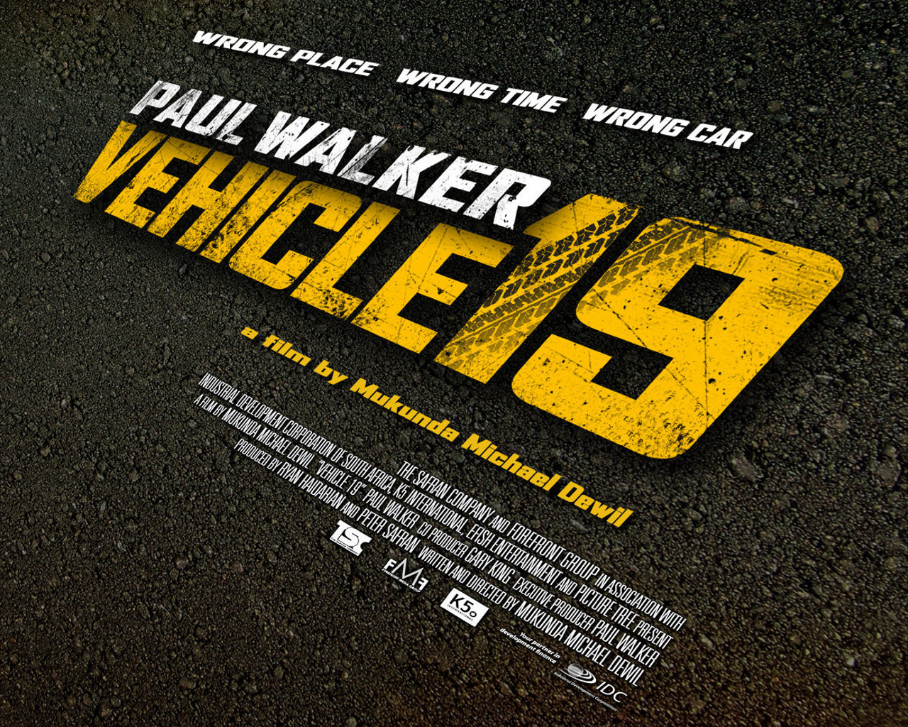Vehicle 19 (2013)       A foreign traveler (Walker) unknowingly picks up a rental car that will tie him to a web of corrupt local police.      Unbelievably RUBBISH. This movie makes Hansel and Gretel look like an Oscar material… Bottom line? Don't waste your time.