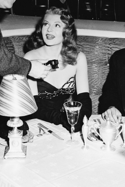 Rita Hayworth on the set of Gilda (1946)