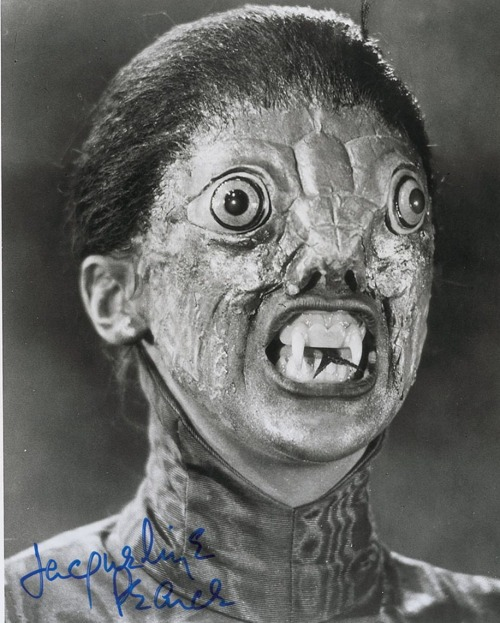 beautyandterrordance:  The Reptile (1966) Roy Ashton's makeup for the creature included appliances created from a mold taken of real snakeskin.