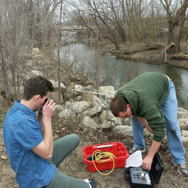 Doing science #hydrogeology #outdoors #creek