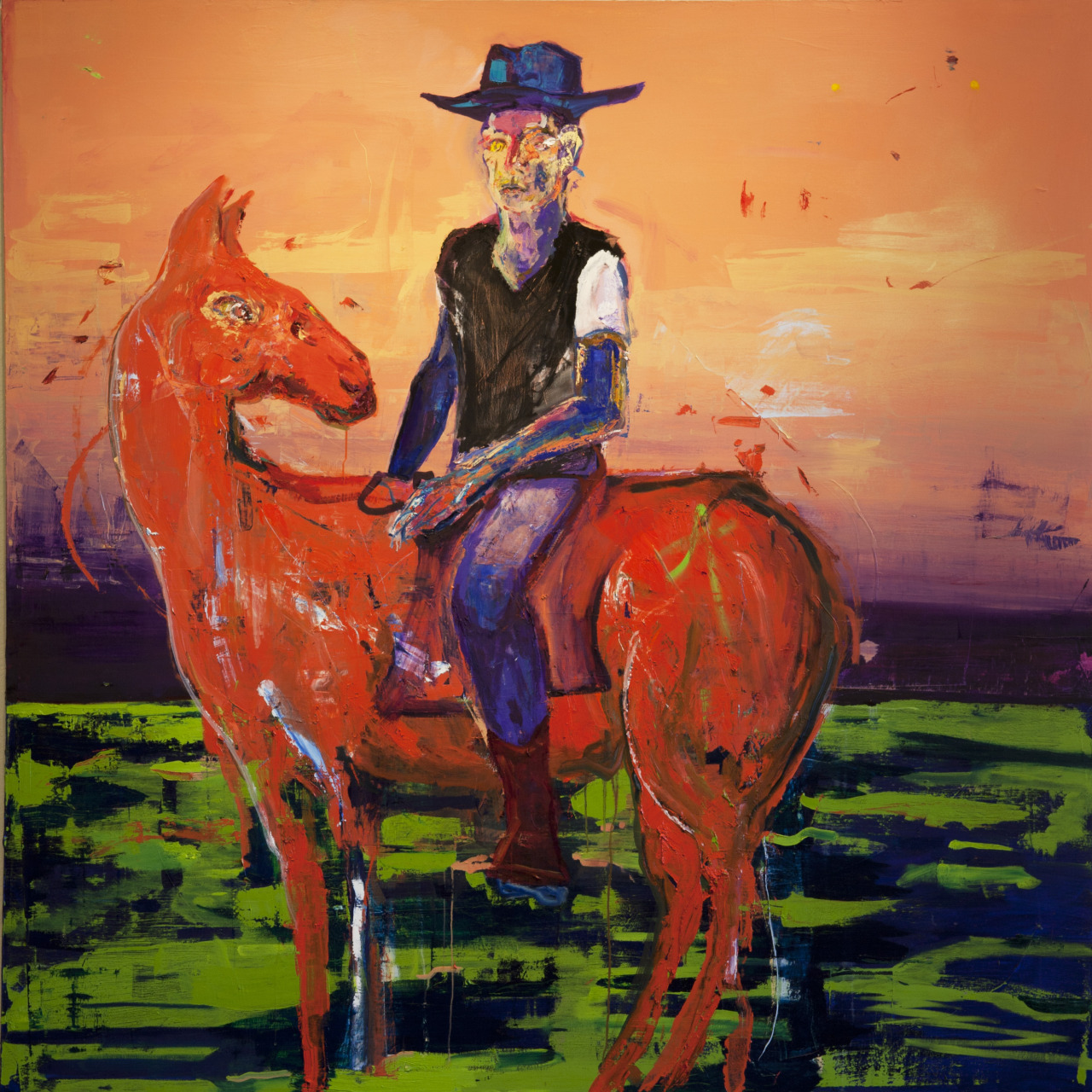 "Cowboy 72"" x 84"" Oil on canvas  2013"