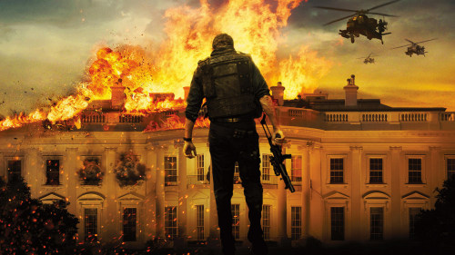 "Olympus Has Fallen is an entertaining shitshow. It has one of those prologues where everything and everyone is moving and talking in a way that let's me know that this part of the movie isn't important and if we can all get past it as quickly as possible than the movie can actually start please and thank you.  Olympus has plenty of moments that feel like they're going to lead to more but yield nothing, like the son's knowledge of Secret Service protocol or the fact that the president is proficient in hand to hand combat. NOPE. Kid sits in wall, gets rescued. President spends the whole movie zip tied to a railing. Melissa Leo gets a longer fight scene! Ugh, Melissa Leo. All or nothing from that lady.  Gerard Butler does a sufficient job, though his inability to deliver one liners is a horrible tragedy. He spends most of the movie on the phone in the dark. Stabs some people in the face, does the no-look-head-shot move perfected by Tom Cruise in Collateral. Olympus peaks early with the massacre of Washington D.C. where entire neighborhoods are decimated by machine guns and crashing fighter jets. After this incredible set piece Robert Forster arrives and is alerted of the damage.  His eyes widen. He sighs. ""Fucking shit."""