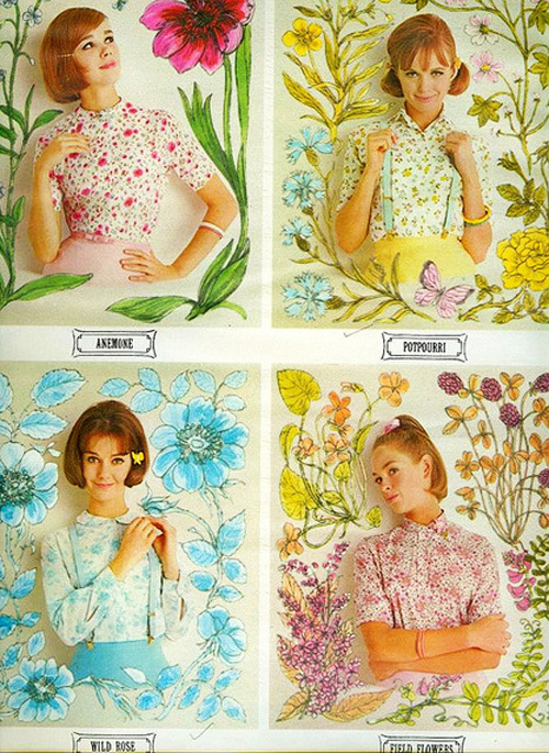 justrebellion:  wildflowers seventeen magazine 1963