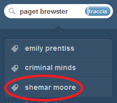 Soooo… Typing Paget Brewster on Tumblr…