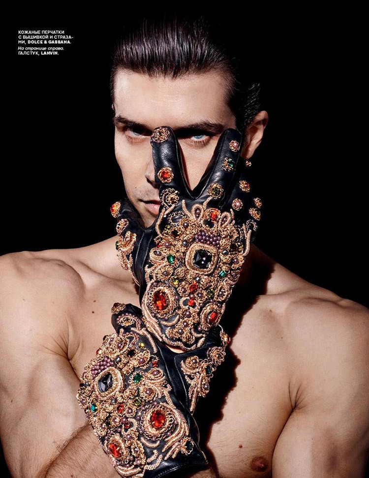 Roberto Bolle for Vogue Russia by Daniel Sannwald