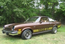 benkraal:  browncar:  Chevy Vega GT  Look, I know the Vega is a joke. But from here in the antipodes all I see is a Torana-that-never-was that needs a honking great V8 and a ducktail spoiler.  /via The 'Pedia.  The Brown Car Blog is back. With a vengeance.  Just unearthed all kinds of childhood trauma.