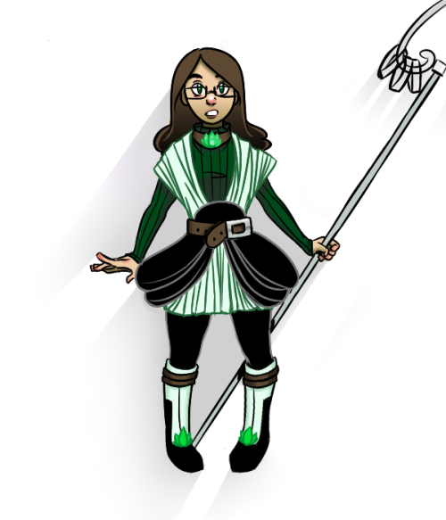 I redesigned my PMMM-style magical-girl-me much like Zimie did recently please don't make me draw out the weapon right now i'm so lazy