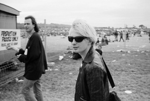dlbia:   Thom Yorke, Glastonbury 1994 | by Steve Double
