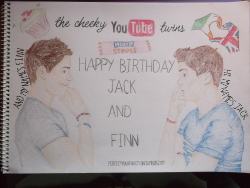 perfectmalfunction:  HAPPY BIRTHDAY JACK AND FINN!! perfect malfunction..<3