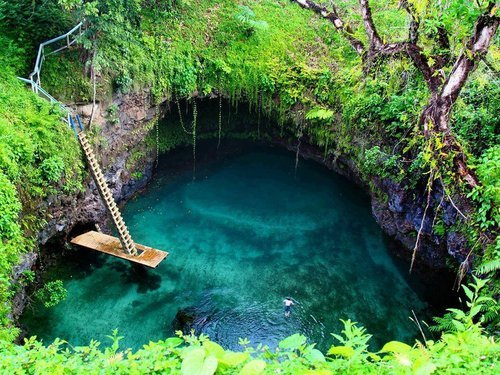 To Sua Ocean Trench, Lotofaga, Samoa photo via lovely