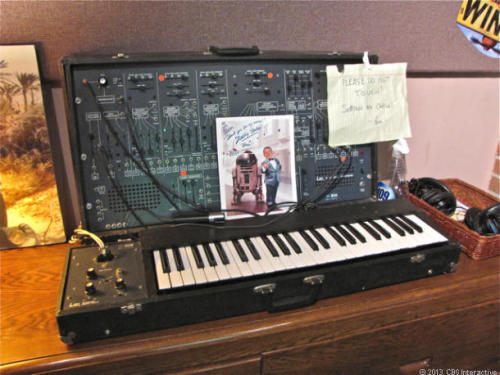 """PLEASE DO NOT TOUCH! Settings are critical"" - An old ARP2600 synthesizer sound designer Ben Burtt uses on Skywalker Ranch to maintain an authentic sound on Star Trek Into Darkness"