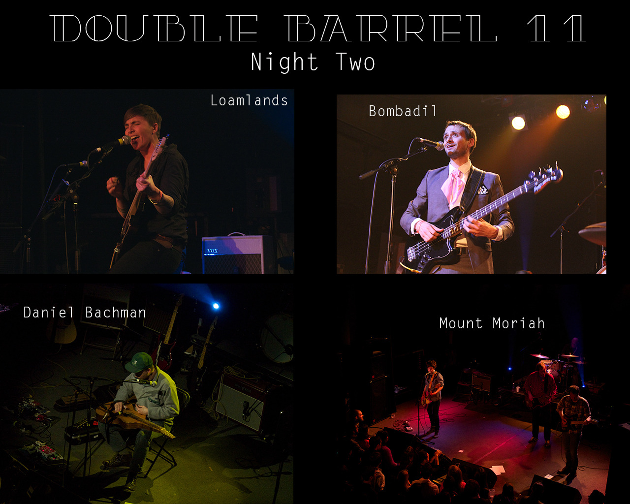 We had a great time our second night of Double Barrel Benefit 11. We had the pleasure of Daniel Bachman, Loamlands, Bombadil, and Mount Moriah taking the stage for a packed crowd at Lincoln Theatre.  All of us at WKNC are so grateful for everyone that once again came out and made DBB 11 a success!