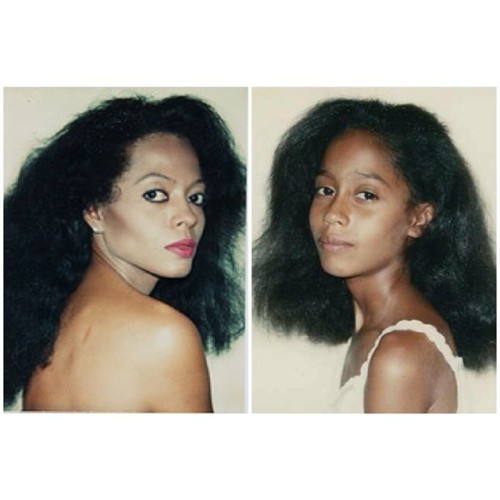 blk-artist:  kjohnlasoul:  Mother and daughter Diana and Tracee Ellis Ross shot by Andy Warhol