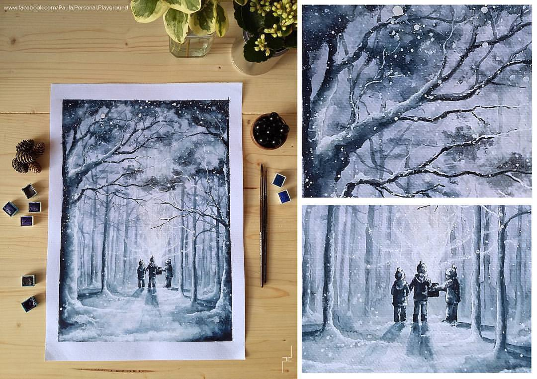 Winter feel.