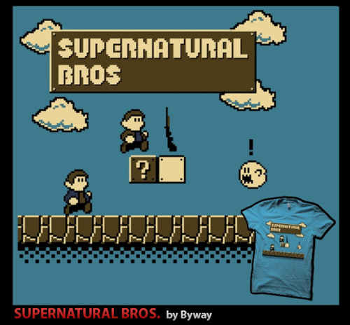 If you haven't already done it you can still vote for my Supernatural Bros. T-shirt design to be printed over at 604Republic! Just follow this link: www.604republic.com/design/supernatural_bros and click on the icon at the top of the page marked 'Amazing' :P