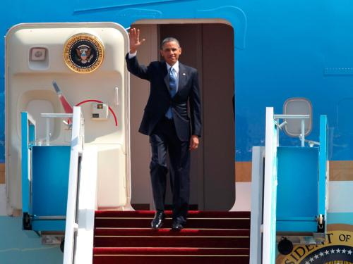 Just a few routine questions, sir: U.S. President Barack Obama arrived in Israel Wednesday for his first visit since his 2008 candidacy. The country is well-know for its strict, ever-vigilant immigration authorities. With this important guest, however, Israel wouldn't have messed up and let its airport security people welcome the president, would it? Read more.