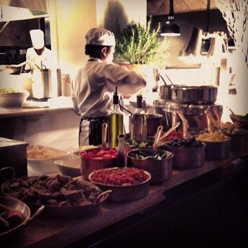 Shosana mixing up your perfect pasta dish at Pasta Bar! #pastabar  (at Ariccia Italian Trattoria)