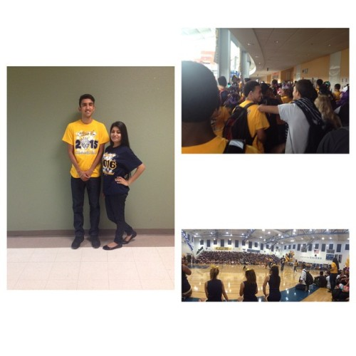 Today's rally was fun. C/O '15 last year. 😭😭 Let's make this last years of ours a memorable year. 😁 SENIORS!! 👑 #SeniorsRule #C/O'15 #ImTooTall #IHS