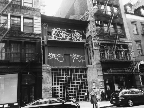 Sabe and Faust tags, midtown manhattan. 2012