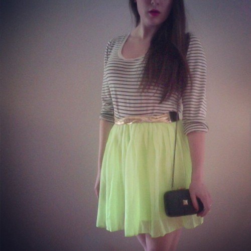 Highlighter yellow skirts. It's spring, so why not.