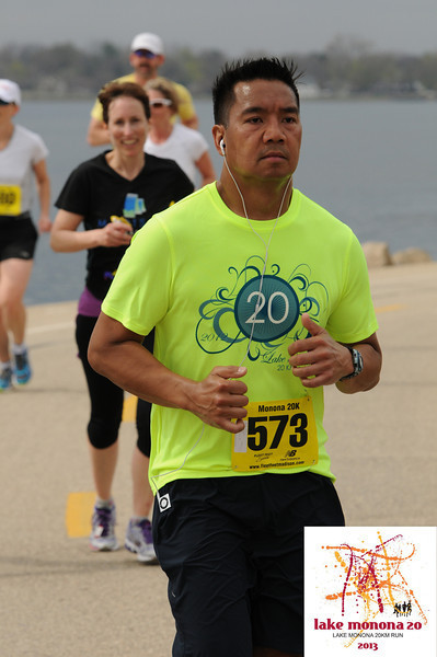 """I look like I am about to die halfway through this 20K. Although I had a PB in this race and had a excellent run, this photo captured the complete opposite. I think it is the look on my face, all the skin in my face on a downward motion, death march emotion, etc. Whatever it is, i think it qualifies. Note: my fiancee said this doesn't EVEN look like me in this pic. I would agree."" -Ray Lo, Lake Monona 20K, May 4, 2013 Follow Ray at: @rayloraylo"