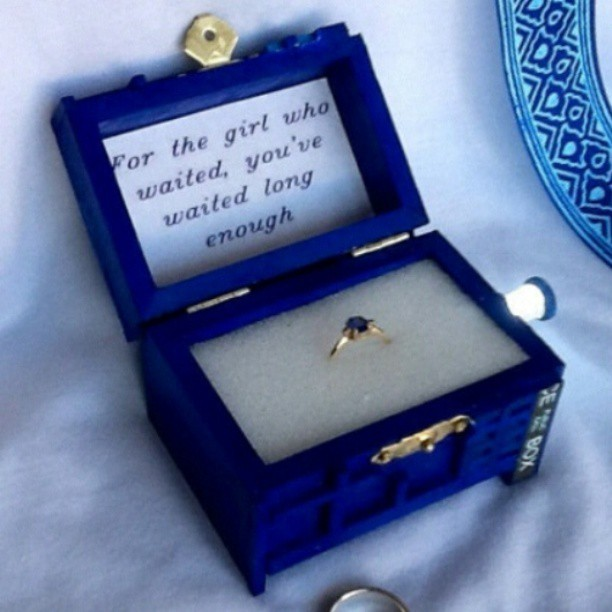 A Dr. Who proposal. Nice.