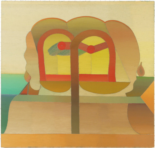 "Miyoko Ito Untitled (134), c. 1970 Oil on canvas 45 3/4"" x 48"""