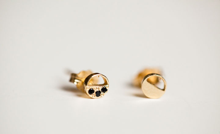 I adore these mocium studs from of a kind.