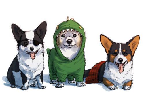 soyrwoo:  Yogscast AU in which everyone (but Rythian) is a corgi welcome 2 tumblr c: