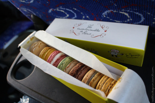 "Macarons from Pierre Hermé (Paris, France) These macarons had the same thin crust and chewy interior like those of Ladurée, but you could definitely taste the almond in these cookies (not that I minded!) Pierre Hermé's flavors seemed more unique though - we had: Infiniment Caramel (infinitely buttery caramel) Crème brûlée (vanilla with caramel flakes) Infiniment Chocolat Chuao (chocolate from the village of Chuao in Venezuela) - this had a deep and rich chocolate flavor…yum! Imagine - (matcha and crisp black sesame) - oh, how I loved this combination, two of my favorite flavors in one! Infiniment Rose (infinitely rose) Mogador (milk chocolate and passion fruit) - I still have to learn to love passion fruit but definitely an interesting flavor Infiniment Praline Noisette (hazelnut praline) - a nice combination of almond and hazelnut flavors, liked this one a lot too! Disclaimer: My European Experience series is based on a ""crash course"" tour of 8 countries in 14 days. Therefore, these posts will contain only some sights and tastes of each country."