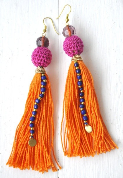 Tassel earrings by nikitaaccessories Hmm, I don't think these earrings are for sale anymore